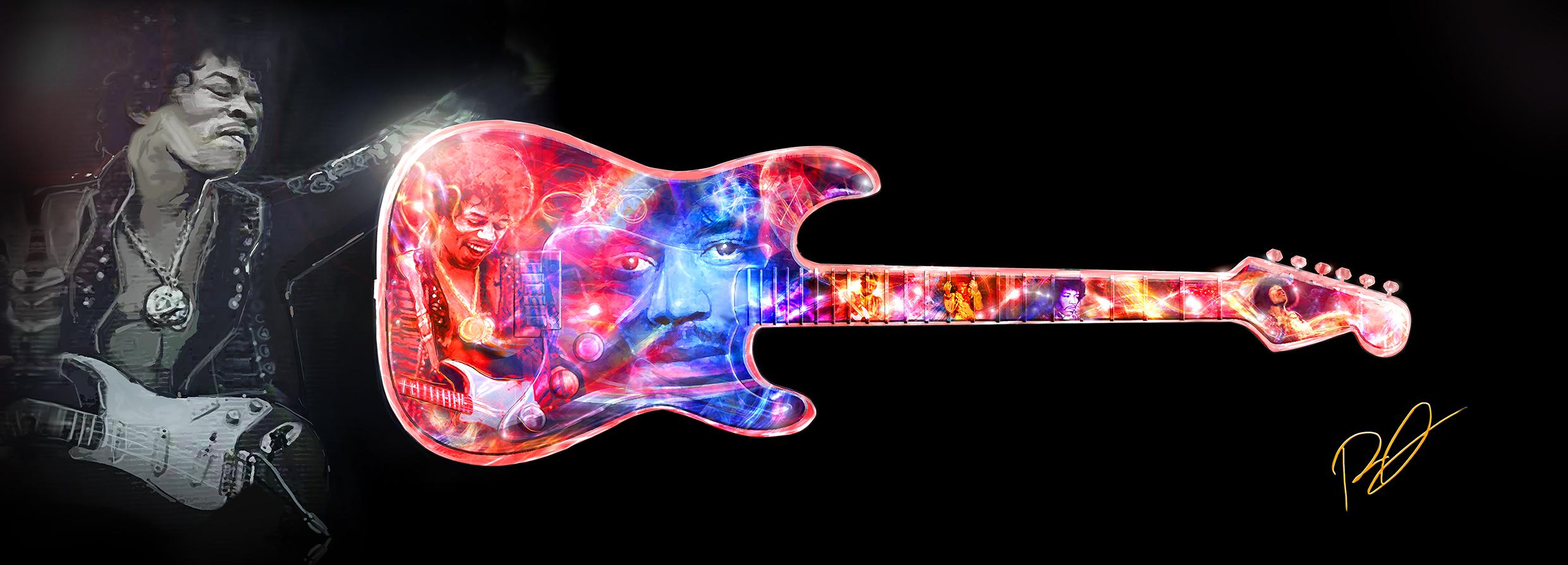 Jimi-Hendrix Tribute Art Piece